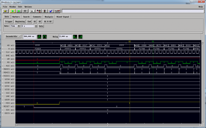 Agilent 16702B running with remote X11 on MobaXTerm