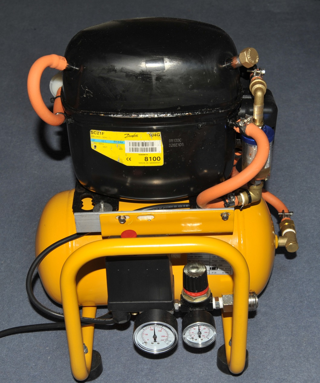 Building A Fridge Compressor Air Matts Tech Pages Typical Ac Removal And Installation Diagram