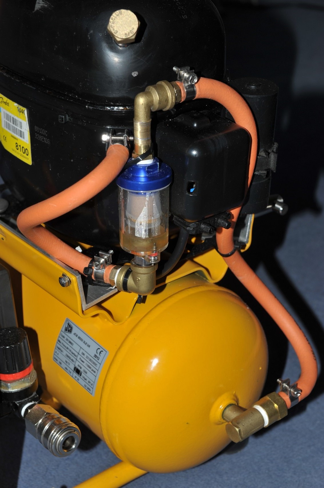 Building A Fridge Compressor Air Matts Tech Pages Typical Ac Removal And Installation Diagram Oil Moisture Trap