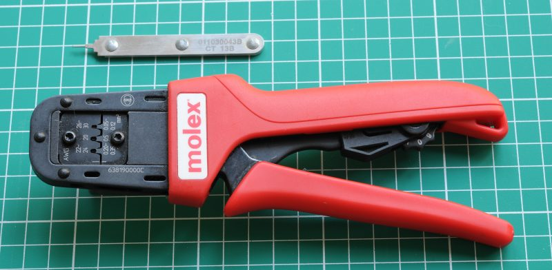 Molex Micro-Fit crimp tool and extraction tool