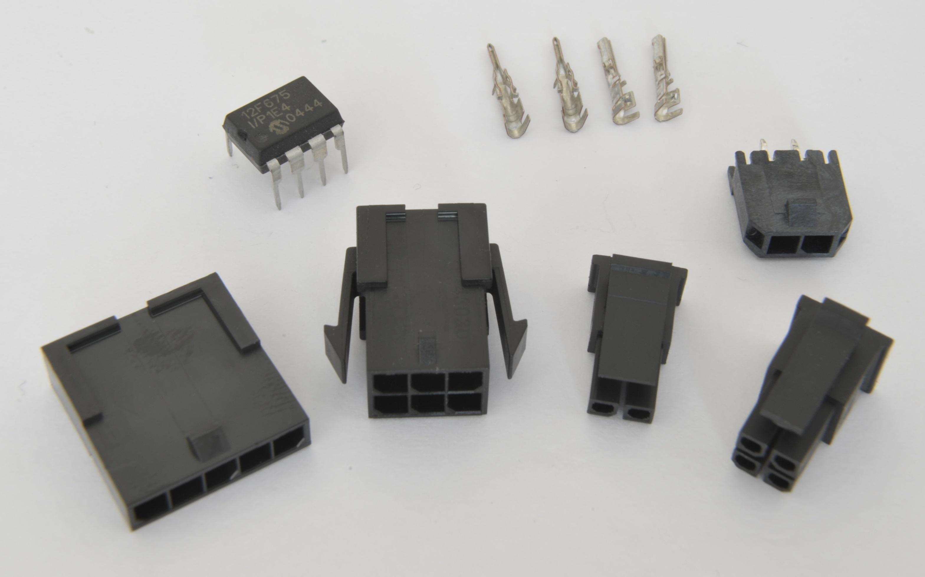 Common wire-to-board, wire-to-wire connectors, and crimp ...