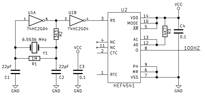 100hz square wave generator circuit