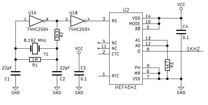 1khz square wave generator circuit